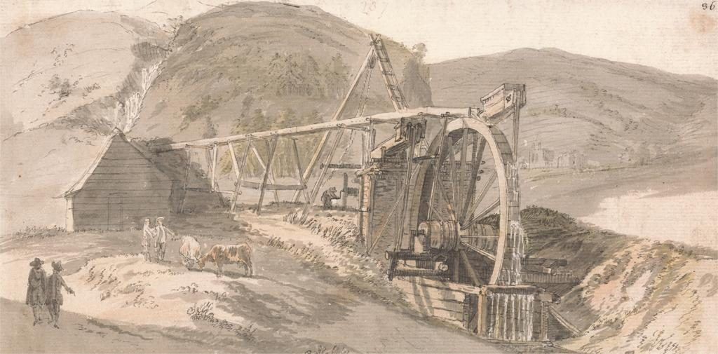 Lord Hopetoun's Lead Mines. Paul Sandby, 1731-1809, British 1751