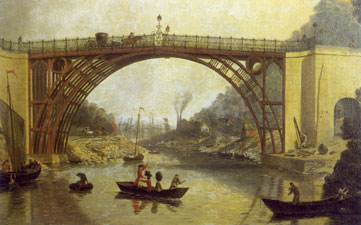 The Iron Bridge Across the Severn. William Wiliams, 1780. Ironbridge Gorge Museum.