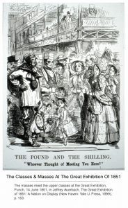 An image of the masses and their children at The Great Exhibition of 1851. 14 June 1851, in Jeffrey Auerbach, The Great Exhibition of 1851: A Nation on Display (New Haven: Yale U. Press, 1999), p. 153